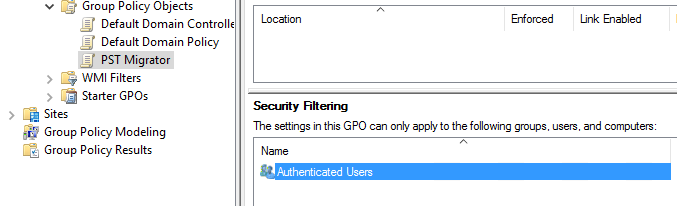 Security Filtering